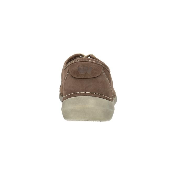 Ležérní kožené polobotky dámské weinbrenner, hnědá, 546-4603 - 17