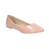 Lakované dámské baleríny bata, růžová, 521-5602 - 13