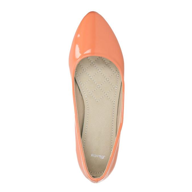 Dámské baleríny bata, oranžová, 521-8602 - 19