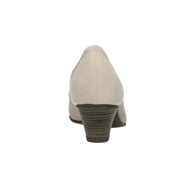 Kožené lodičky šíře H bata, šedá, 623-2602 - 17
