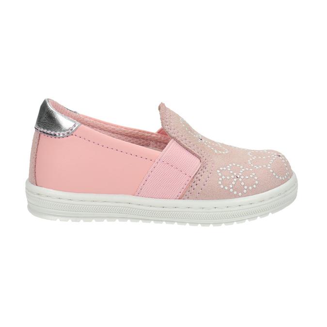 Dětská kožená Slip-on obuv bubblegummers, růžová, 123-5600 - 15