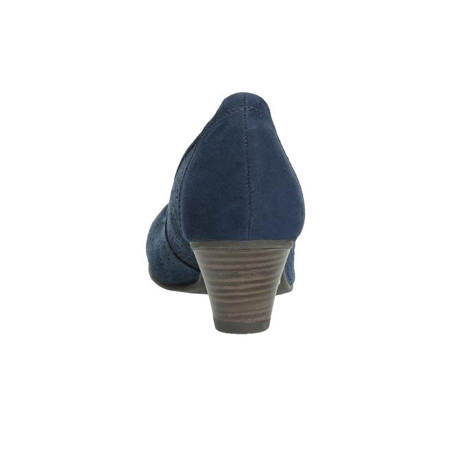 Kožené lodičky šíře H bata, modrá, 623-9602 - 17
