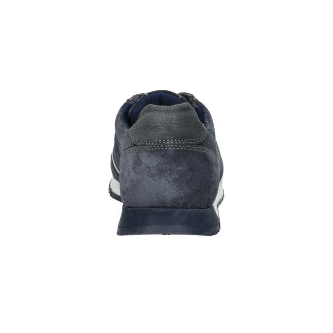 Pánské kožené tenisky bata, modrá, 843-9624 - 17