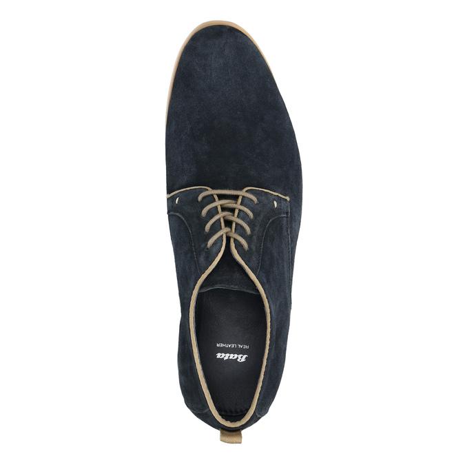 Polobotky z broušené kůže bata, modrá, 823-9602 - 19