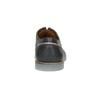 Pánské kožené polobotky s průhlednou podešví bata, modrá, 826-9803 - 17