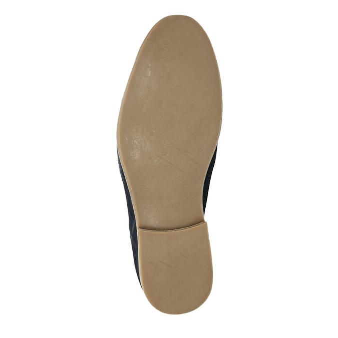 Polobotky z broušené kůže bata, modrá, 823-9602 - 26