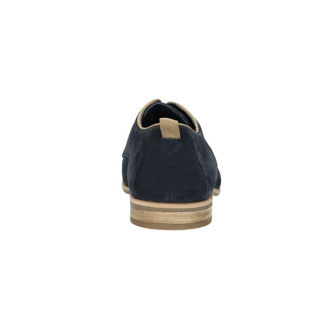Polobotky z broušené kůže bata, modrá, 823-9602 - 17