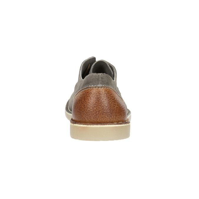 Kožené polobotky na ležérní podešvi bata, šedá, 823-2604 - 17