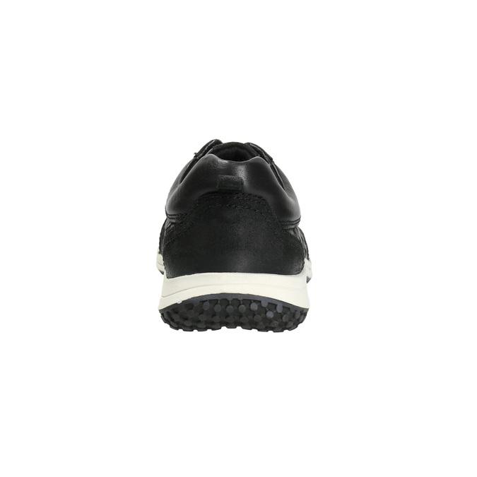 Pánské kožené tenisky bata, černá, 844-6634 - 17