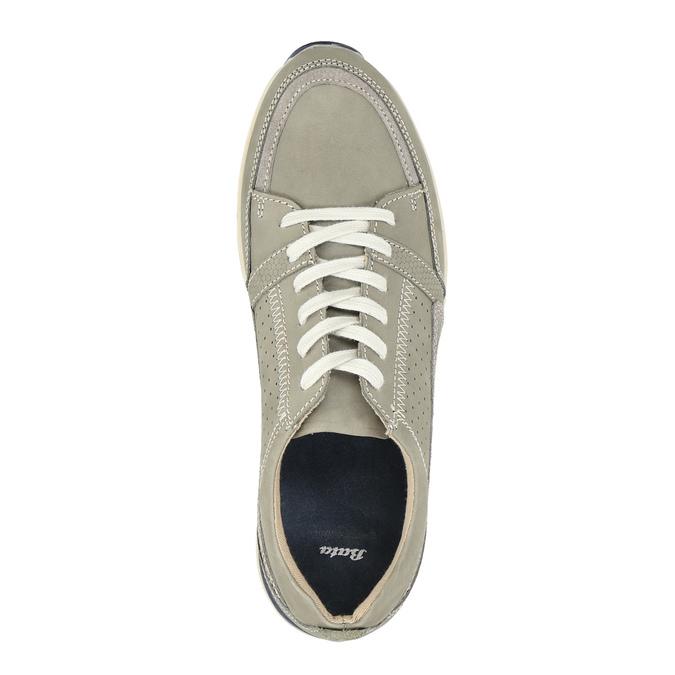 Ležérní kožené tenisky bata, hnědá, 846-2632 - 19