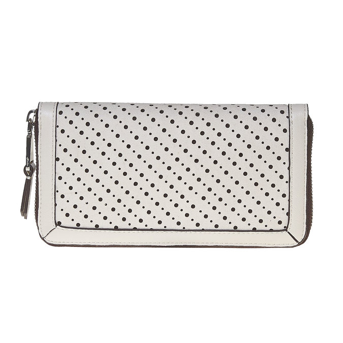 Dámská peněženka s perforací bata, bílá, 941-1147 - 26