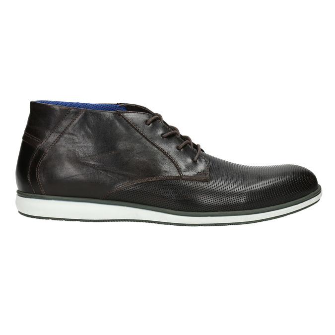 Kožená kotníčková obuv s ležérní podešví bata, černá, 826-4818 - 15