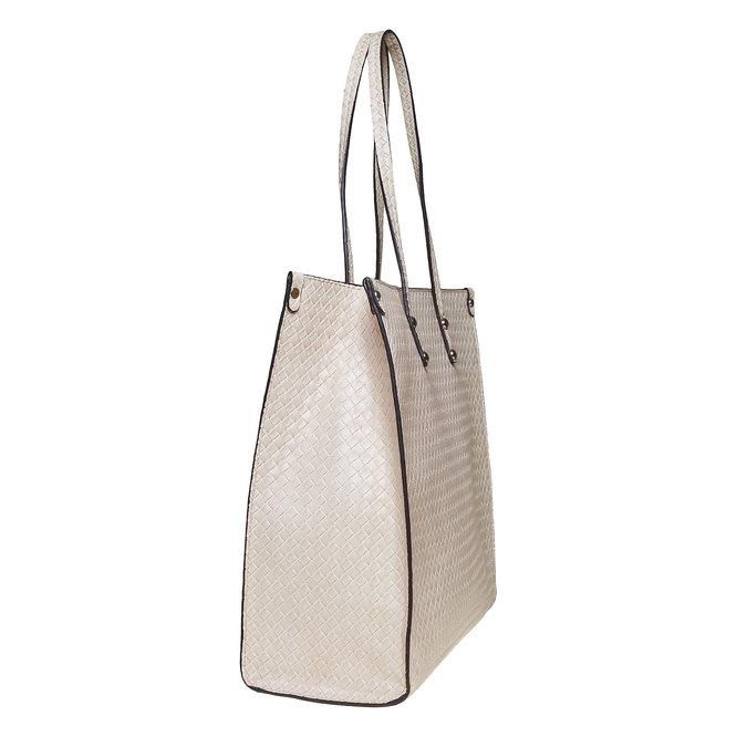 Krémová dámská kabelka s pleteným vzorem bata, béžová, 961-8289 - 17