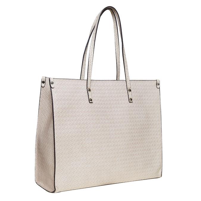 Krémová dámská kabelka s pleteným vzorem bata, béžová, 961-8289 - 13
