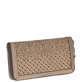 Perforovaná dámská peněženka bata, hnědá, 941-3147 - 13