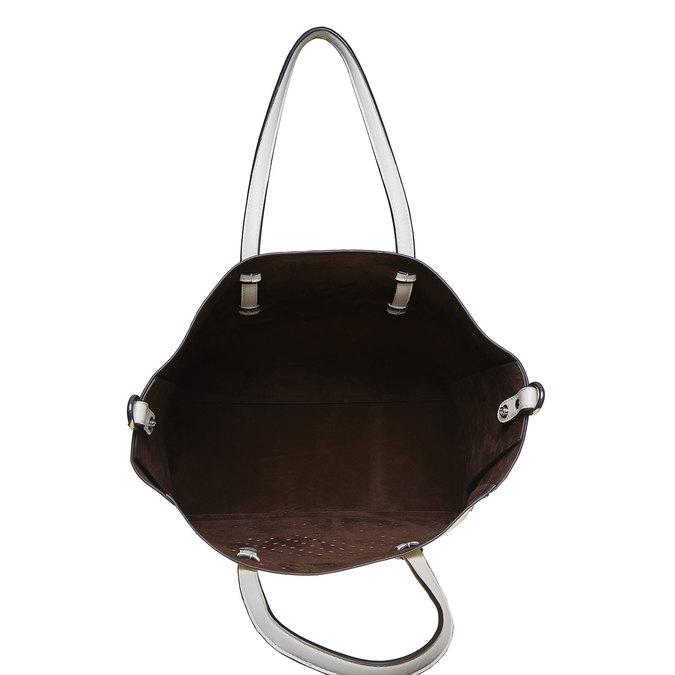 Dámská kabelka s perforací bata, bílá, 961-1276 - 17