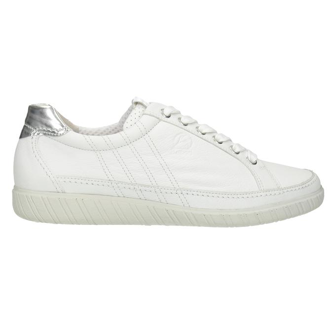 Bílé kožené tenisky gabor, bílá, 626-1204 - 26
