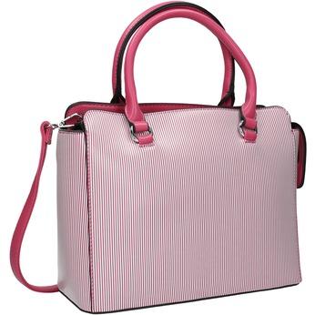 Pruhovaná dámská kabelka bata, růžová, 961-5747 - 13