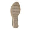 Kožené sandály na klínku bata, šedá, 626-2642 - 19