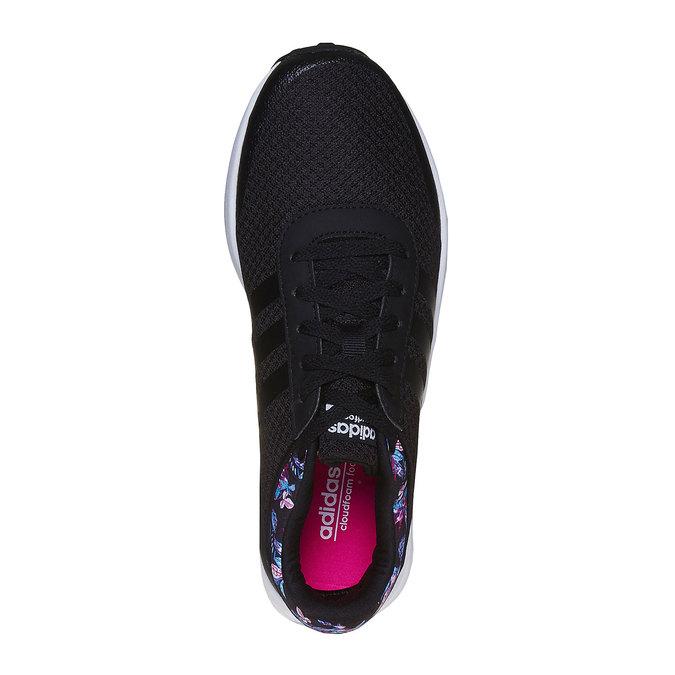 Černé tenisky s květinovým vzorem adidas, černá, 509-6974 - 19