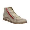 Kožená kotníčková obuv s červeným zipem weinbrenner, hnědá, 596-8654 - 13