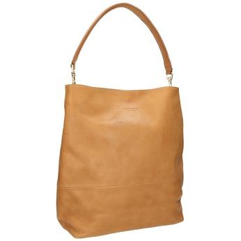 Kožená kabelka s odnímatelným uchem vagabond, béžová, 964-8051 - 13