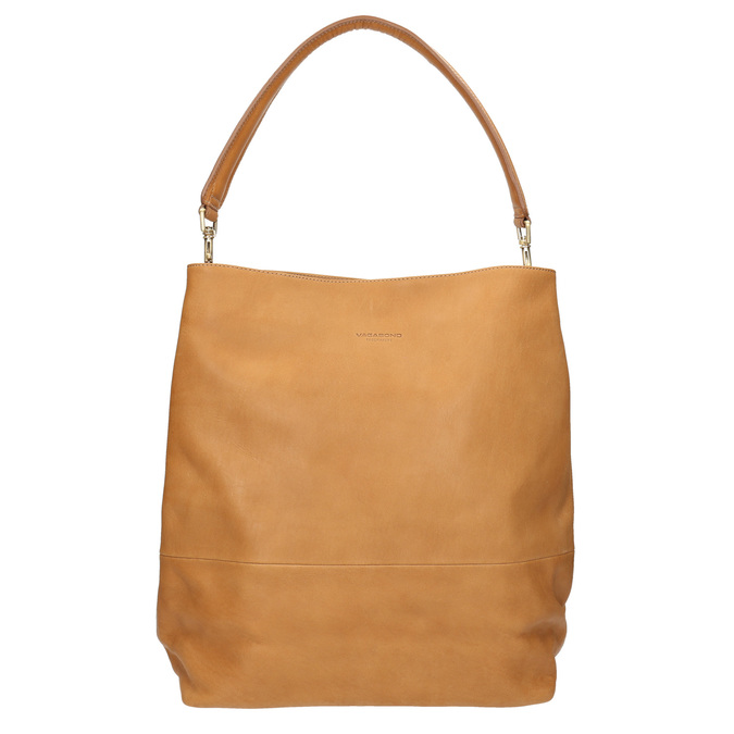 Kožená kabelka s odnímatelným uchem vagabond, béžová, 964-8051 - 19
