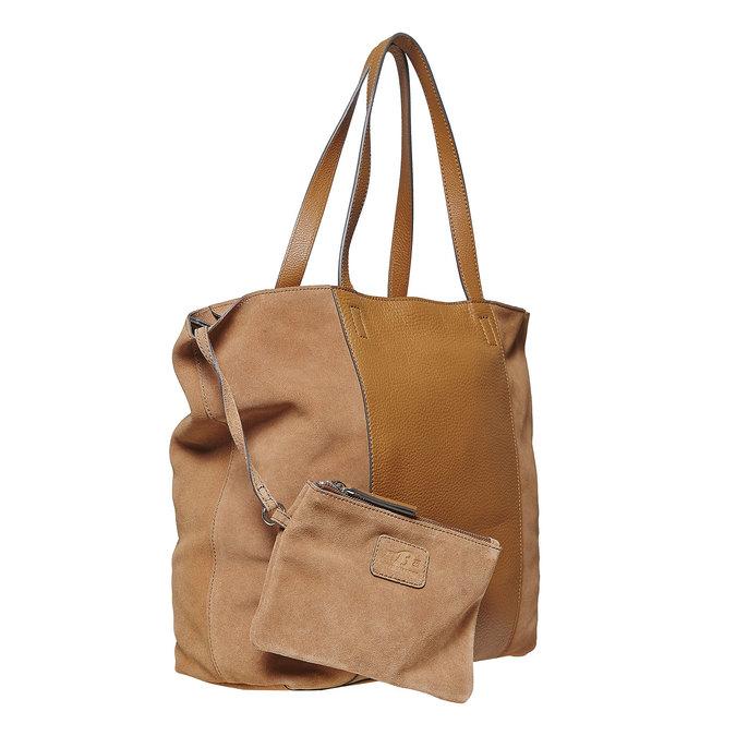 Dámská kožená kabelka hnědá bata, hnědá, 964-3185 - 17
