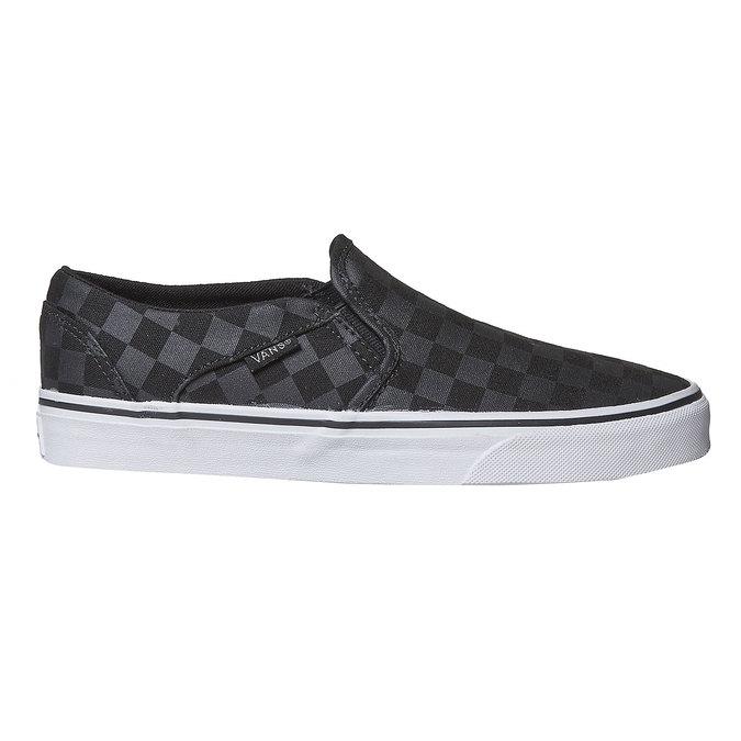 Dámská Slip-on obuv se vzorem vans, černá, 589-6288 - 15