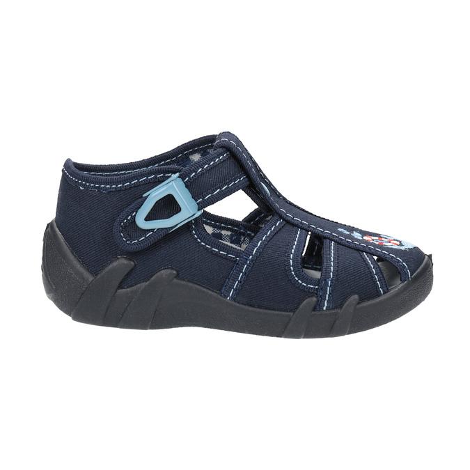 Dětská domácí obuv modrá mini-b, modrá, 179-9600 - 15