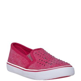 Dívčí Slip-on obuv s kamínky north-star, růžová, 229-5193 - 13