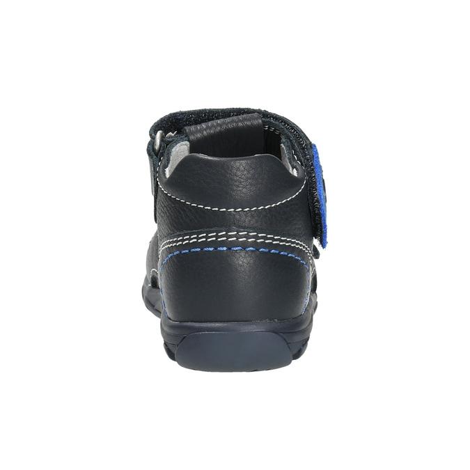 Kožené chlapecké sandály richter, modrá, 114-9019 - 17