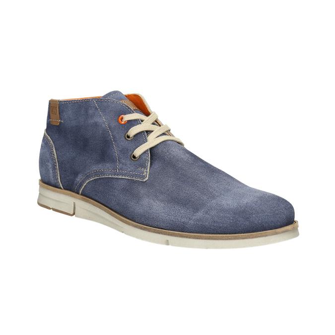 Kotníčková obuv z broušené kůže weinbrenner, modrá, 843-9625 - 13