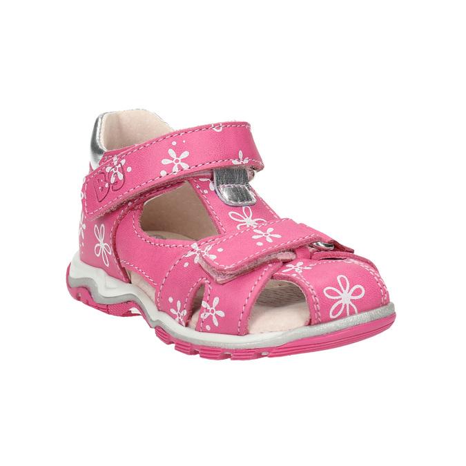 Dívčí kožené sandály bubblegummers, růžová, 166-5600 - 13