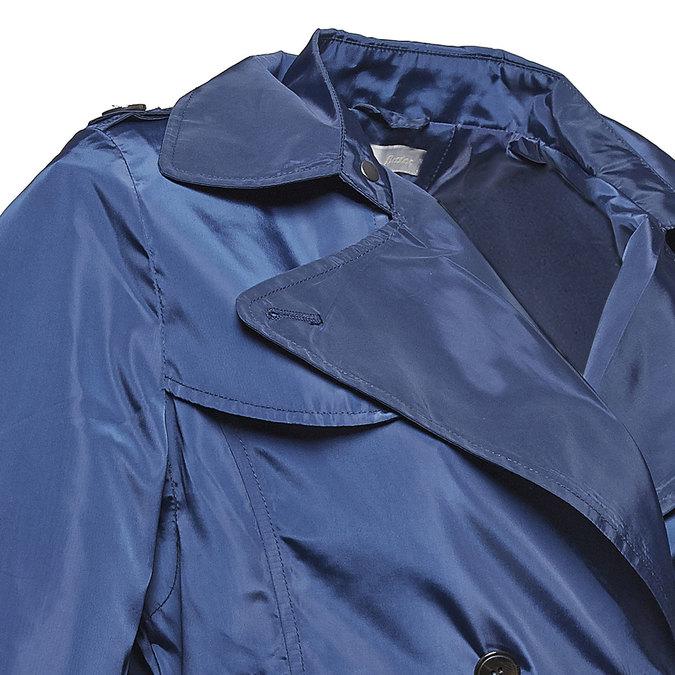 Modrý dámský trenčkot bata, modrá, 979-9205 - 16