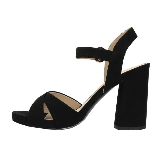 Dámské sandály na masivním podpatku bata, 2021-769-6602 - 26