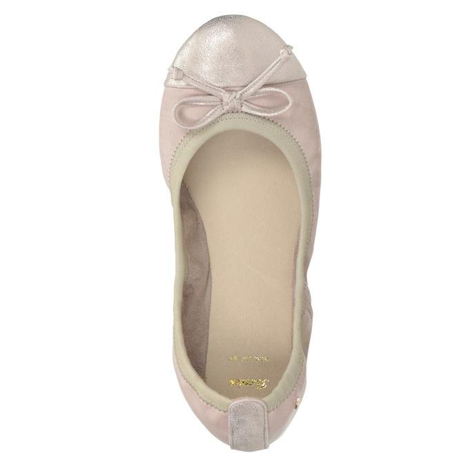 Dámské baleríny s pružným lemem bata, růžová, 521-8601 - 26