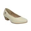 Kožené lodičky na nízkém podpatku bata, béžová, 624-1603 - 13