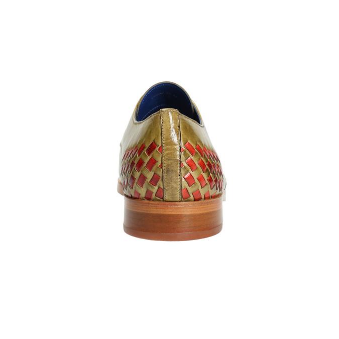 Pánské kožené Ombré polobotky melvinandhamilton, hnědá, 826-8056 - 17