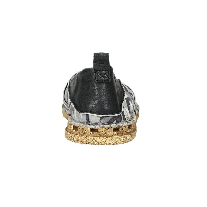 Maskáčové kožené Slip-on a-s-98, šedá, 816-9051 - 17