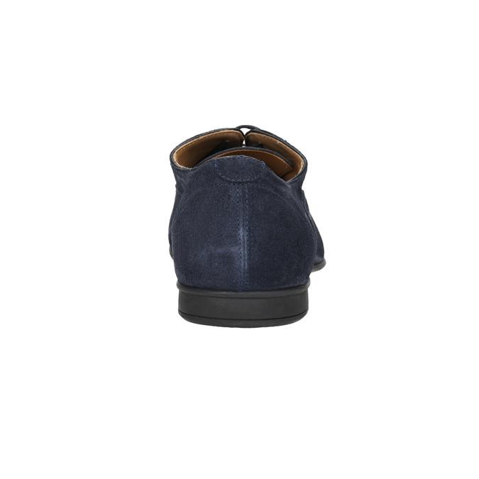 Kožené pánské polobotky geox, modrá, 823-9014 - 17