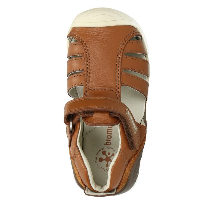 Dětská kožená obuv biomecanics, hnědá, 114-4016 - 19