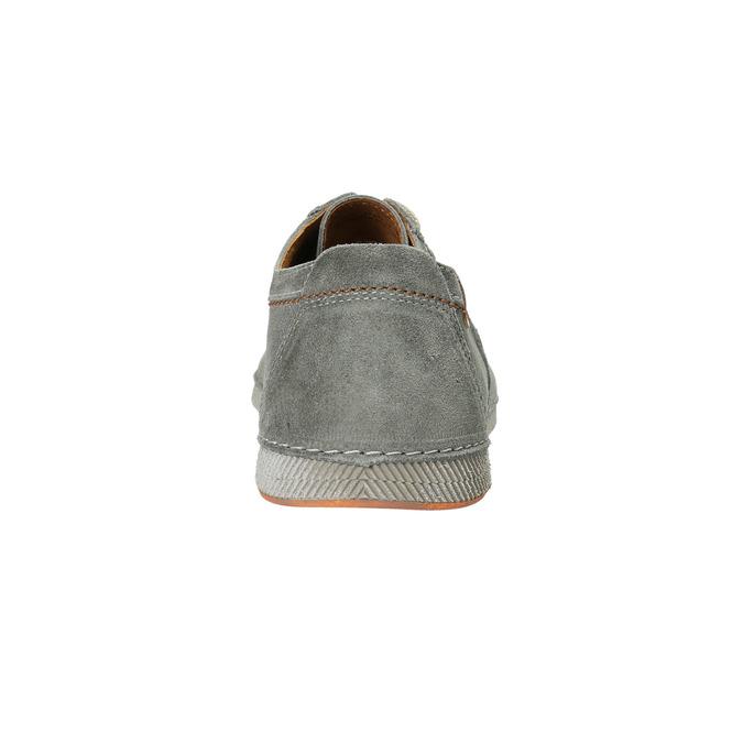 Ležérní kožené polobotky šedé weinbrenner, šedá, 843-2629 - 17