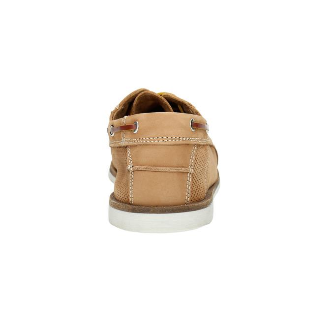 Kožené Boat Shoes bata, hnědá, 856-3604 - 17