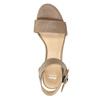 Kožené sandály na klínku bata, hnědá, 666-4607 - 19