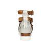Kožené sandály na flatformě bata, hnědá, 666-1605 - 17