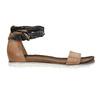 Dámské sandály s kontrastním páskem bata, hnědá, 566-3603 - 15