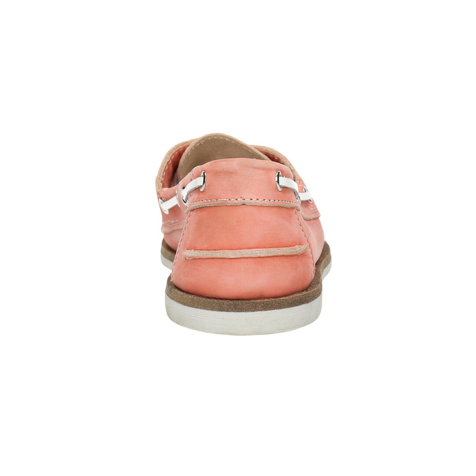 Dámské kožené mokasíny bata, růžová, 526-5632 - 17
