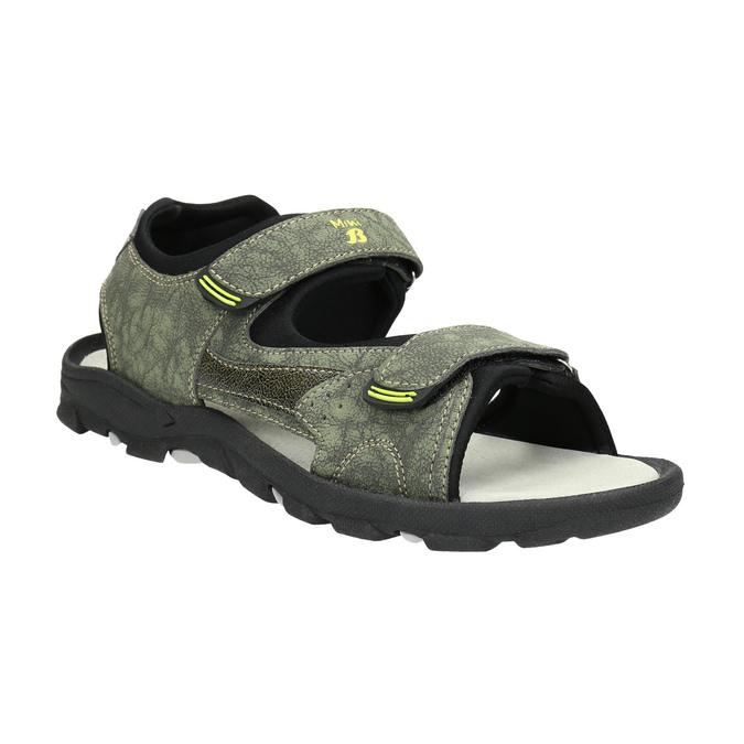 Sandály na suché zipy dětské mini-b, zelená, 461-7605 - 13