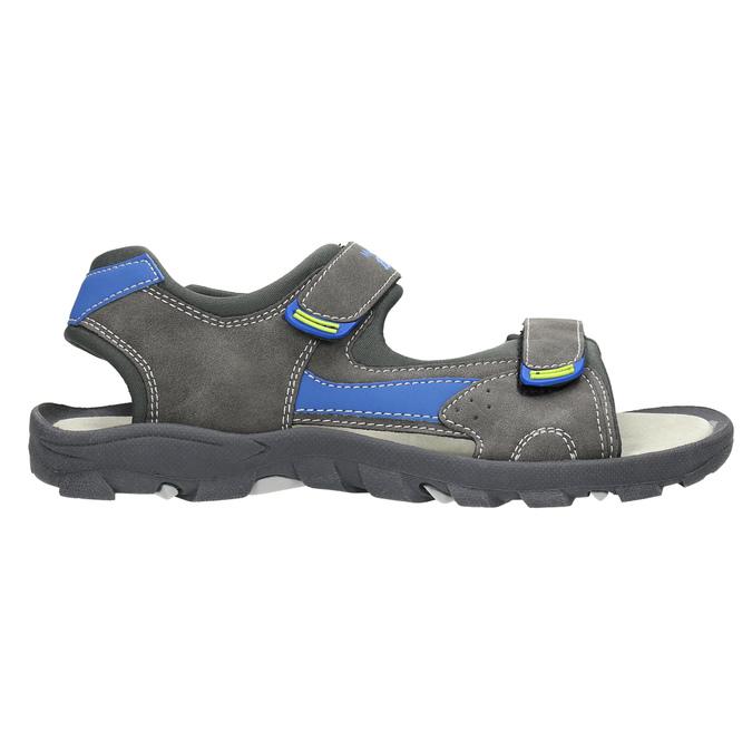 Dětské sandály na suché zipy mini-b, šedá, 461-2605 - 15